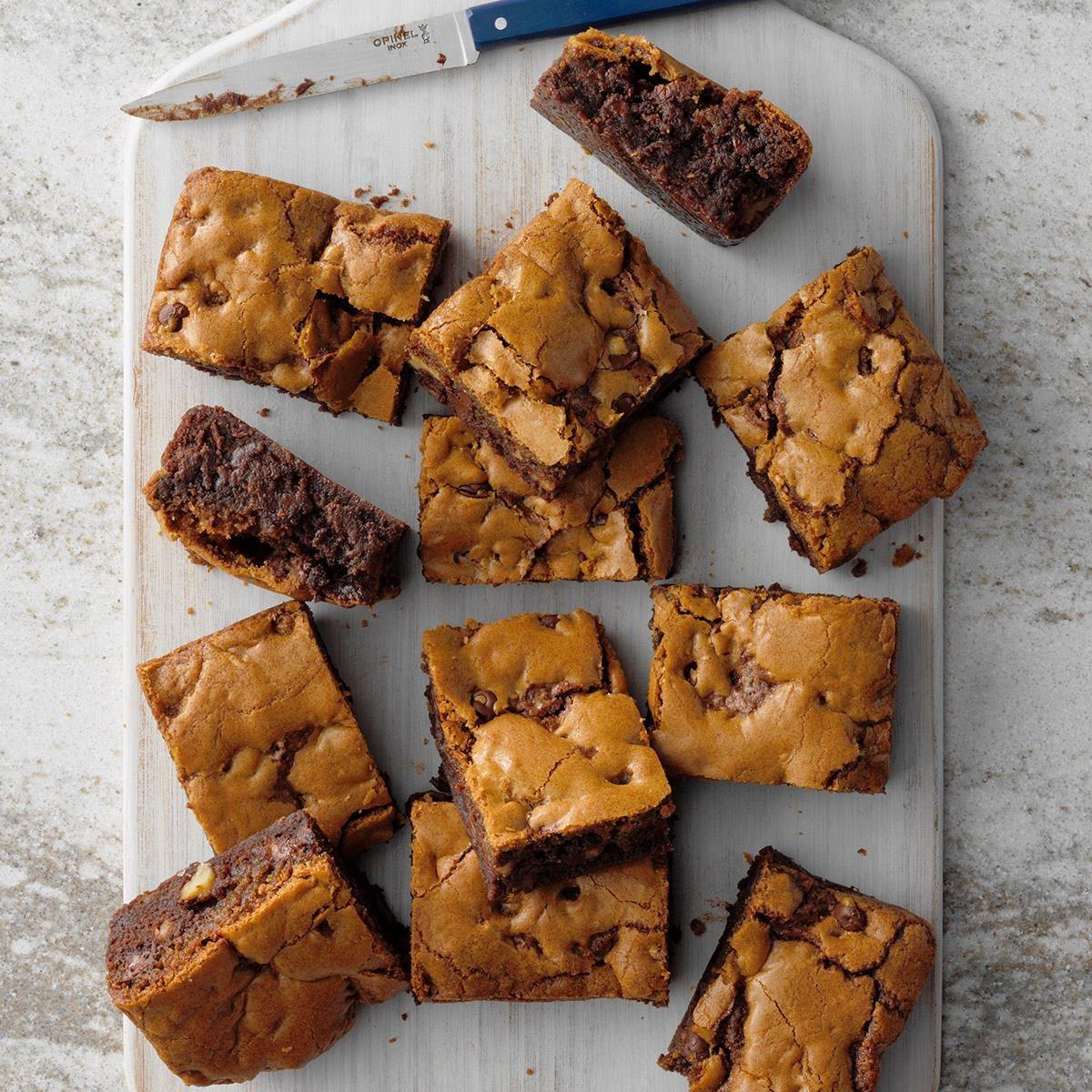 Chocolate Chip Cookie Brownies Recipe | Taste of Home