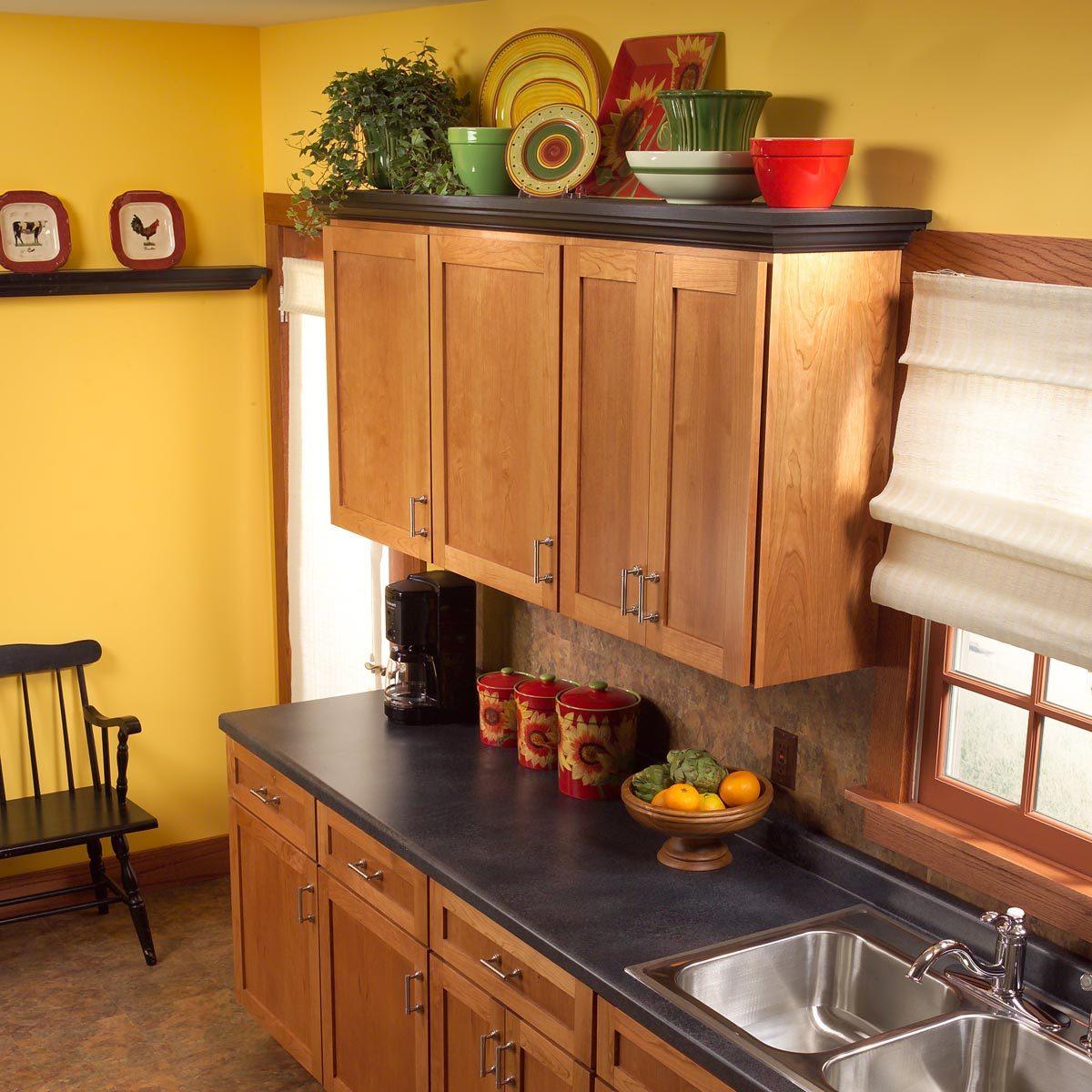 Shelves Above Kitchen Cabinets
