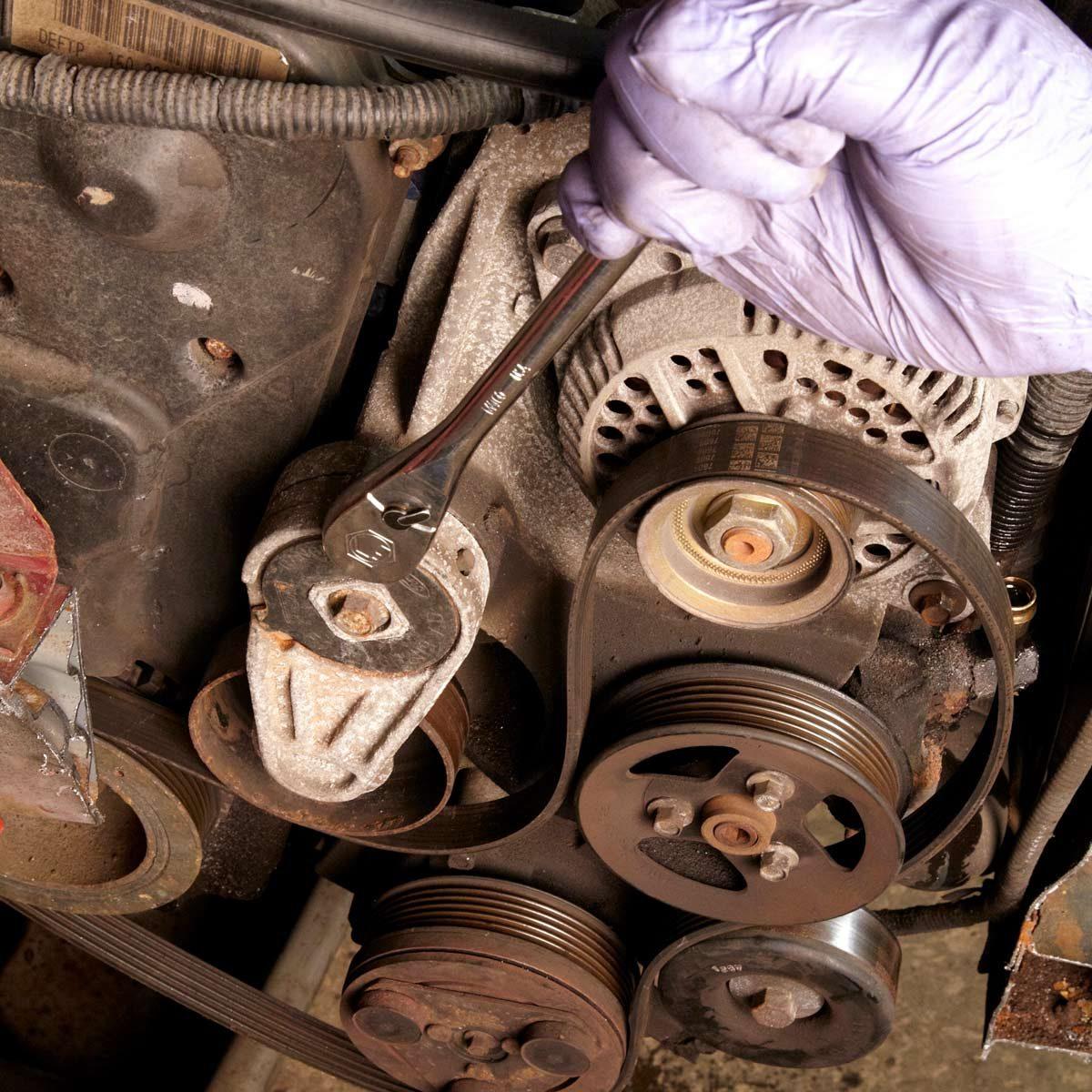 Changing a Car Serpentine Belt