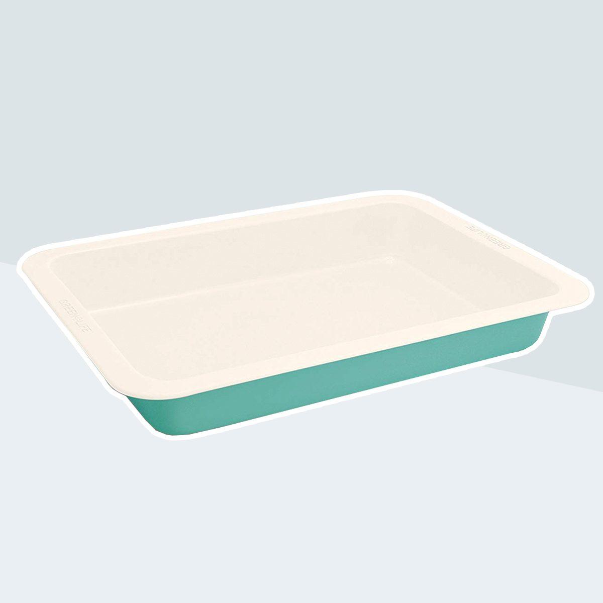 "GreenLife 9""x13"" Ceramic Non-Stick Cake Pan, Turquoise"