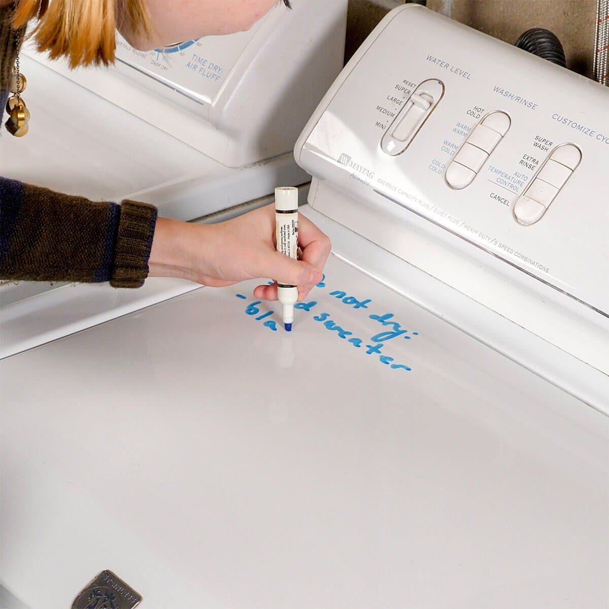 Writing on washer