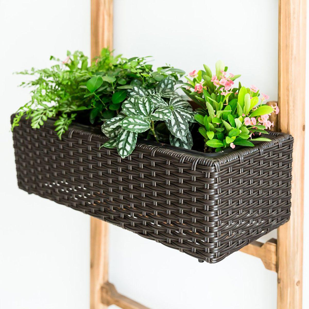 Wicker planter box from Amazon