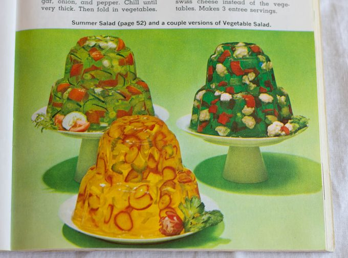 Image of Jell-O Summer & Vegetable Salads, from the Joys of Jell-O Cookbook, 7th edition.