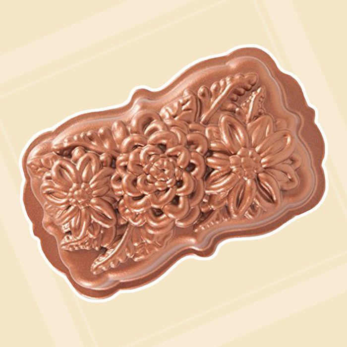 Nordic Ware 93148 Wildflower Loaf Pan, One Size, Copper