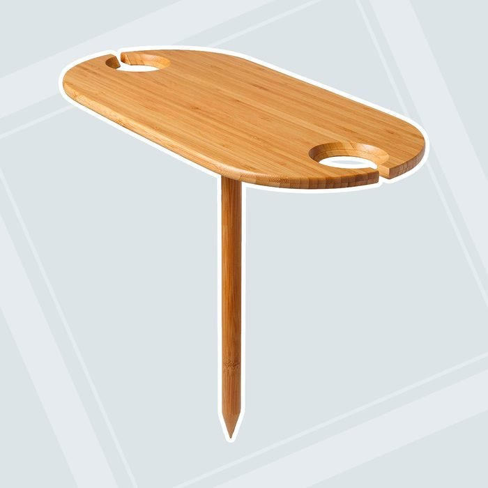 Outdoor Table And Wine Holder