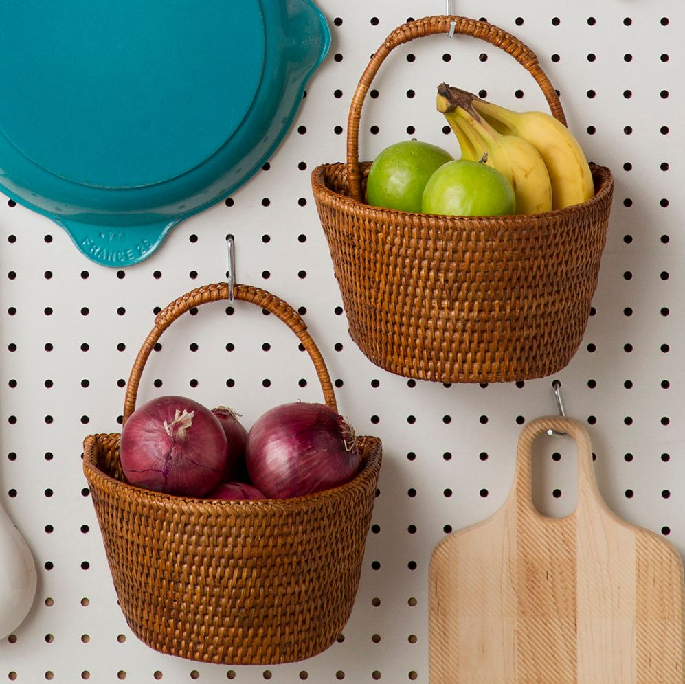 Baskets full of produce