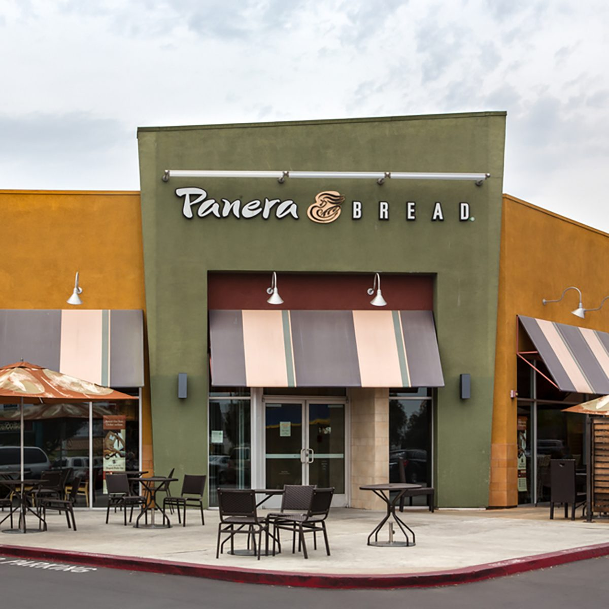 Panera Bread restaurant exterior. Panera Bread is a chain of bakery-casual restaurants in the United States and Canada