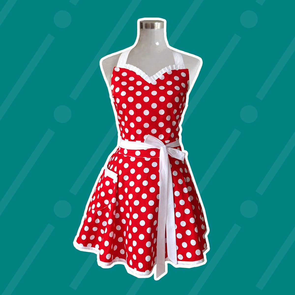 Sweetheart Red Retro Kitchen Apron