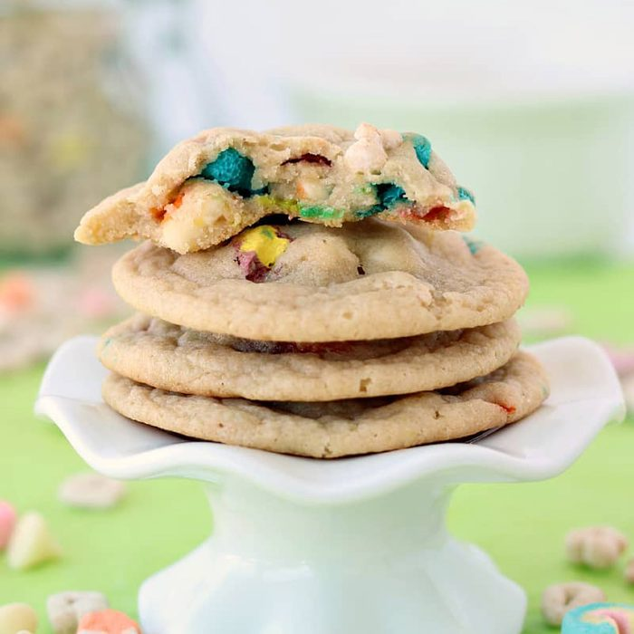 White Chocolate Lucky Charms Cookies