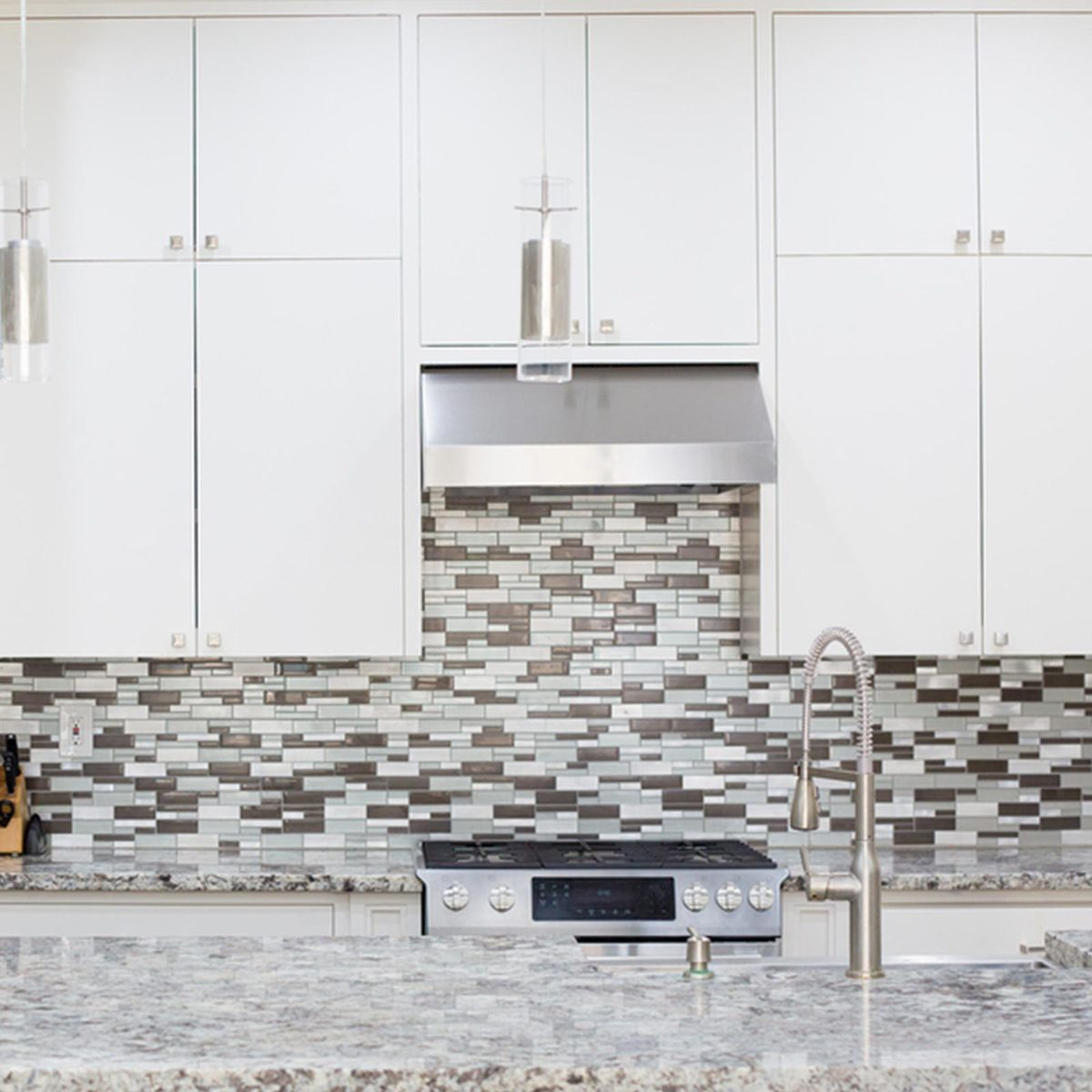 Backsplash in a kitchen