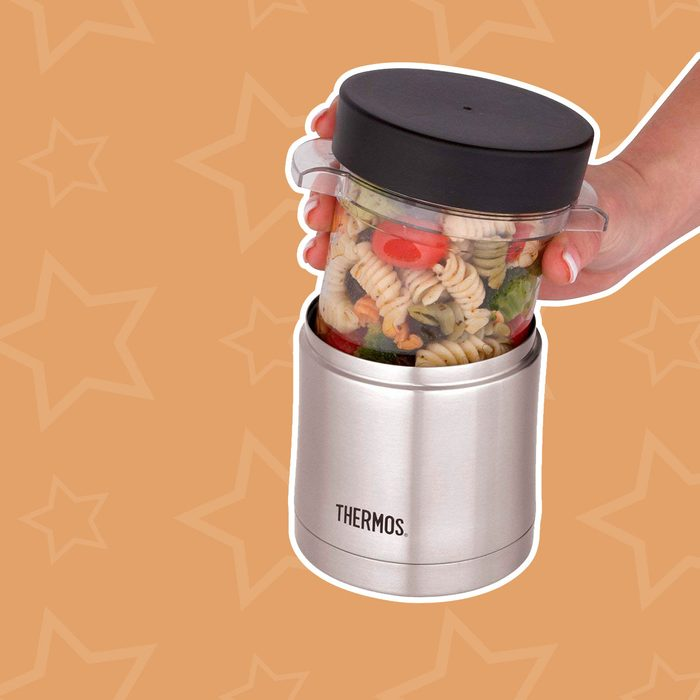 Thermos Food Jar with Microwavable Liner