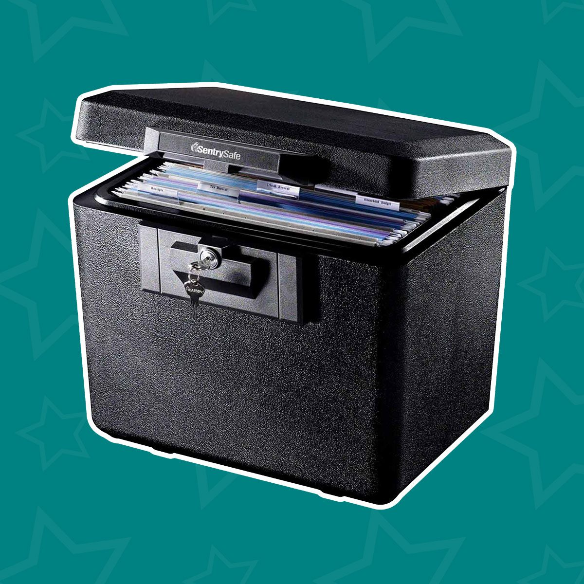 Fireproof File Box with Key