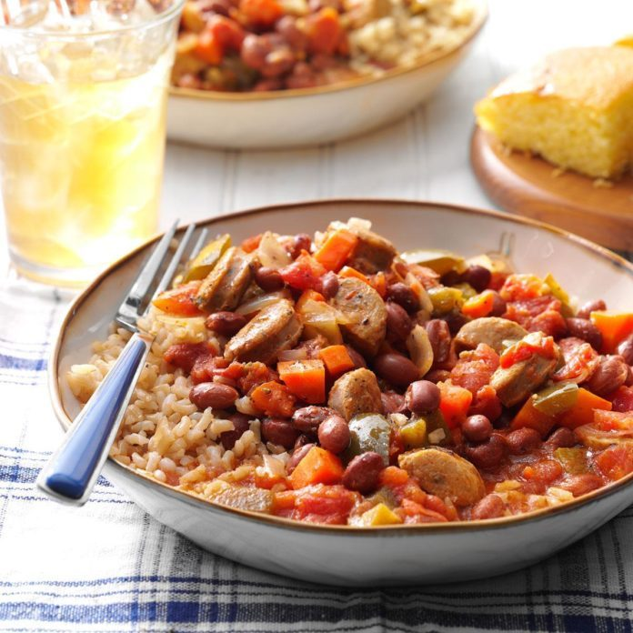 Instant Pot Cajun-Style Beans and Sausage