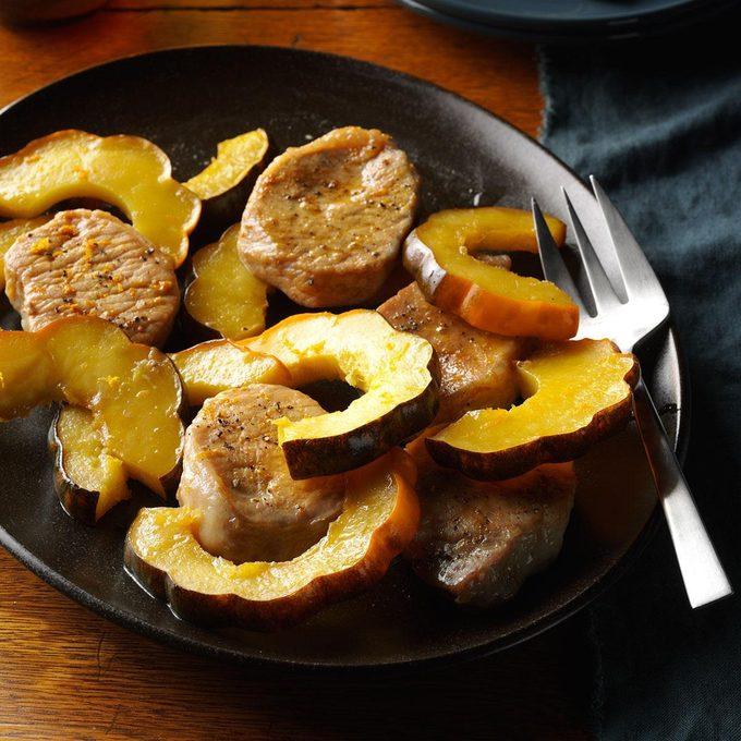 Instant Pot Pork Chops and Acorn Squash