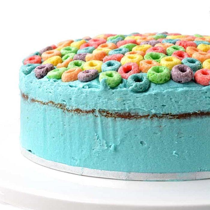 Froot Loop Cereal Milk Cake