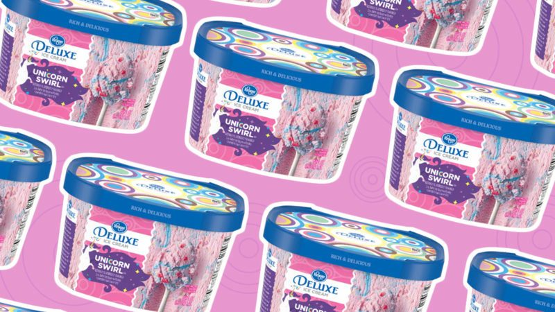 Kroger Unicorn Swirl Ice Cream