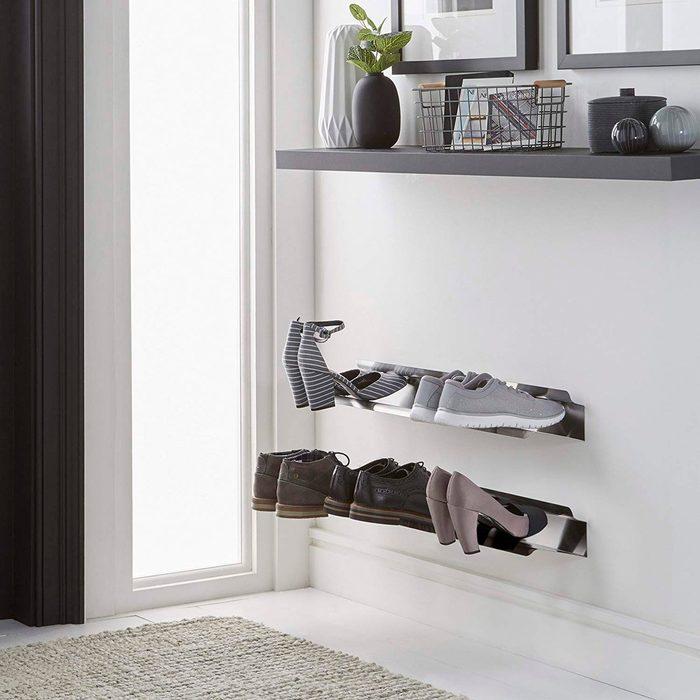 Modern Stainless Steel Shoe Rack
