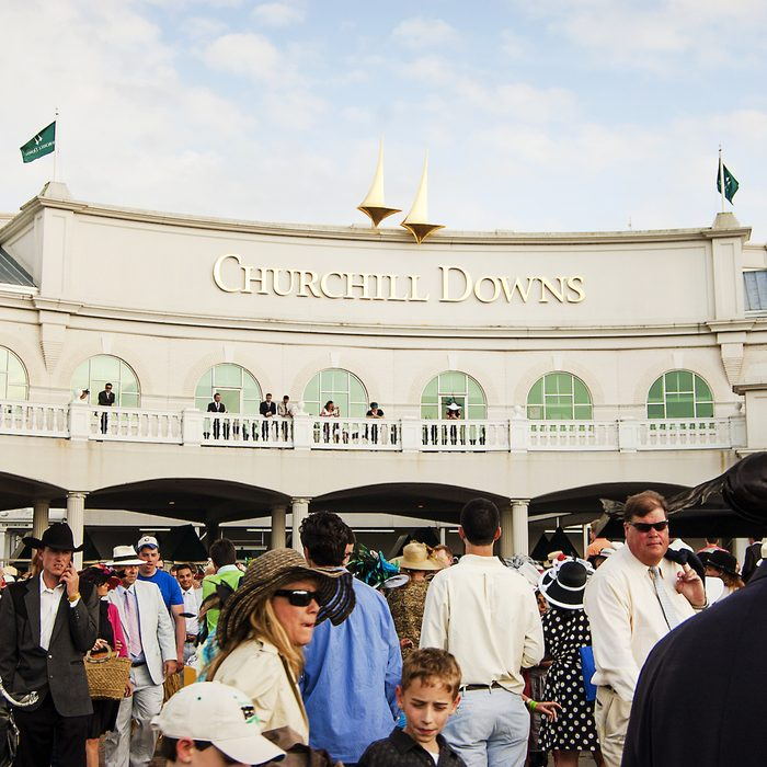 crowd at Churchill Downs for the Kentucky Derby