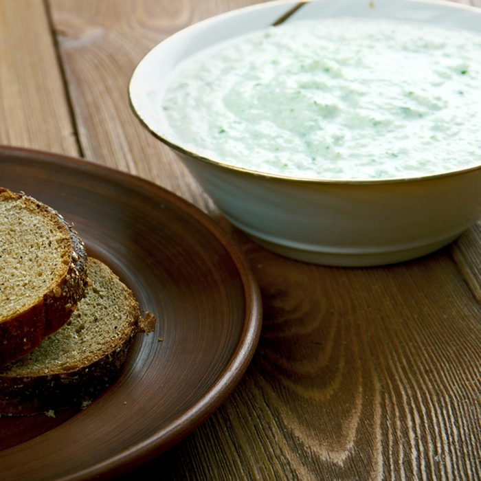 Benedictine - spread made with cucumbers and cream cheese.