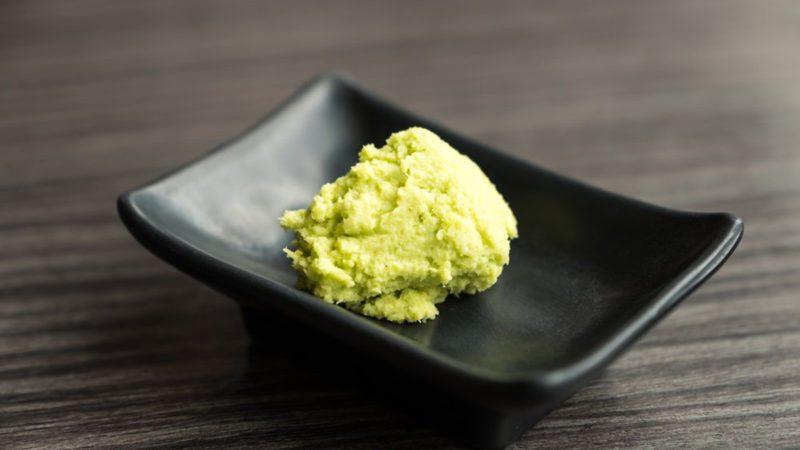 Wasabi on a black dish