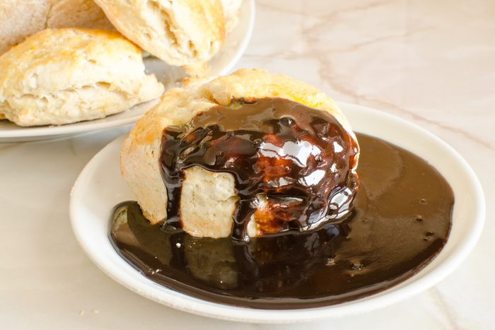 biscuits with southern chocolate gravy