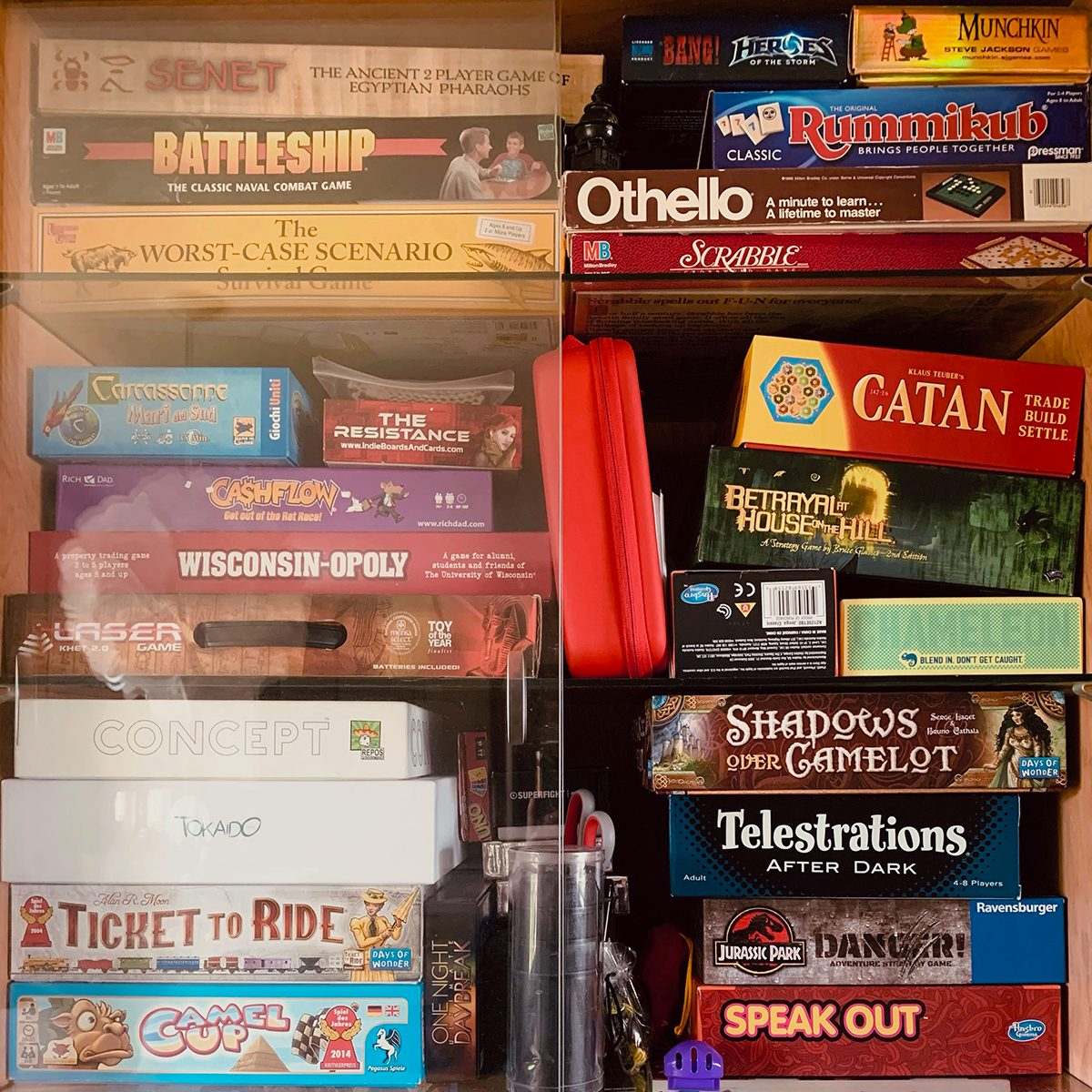 Stack of Board Games