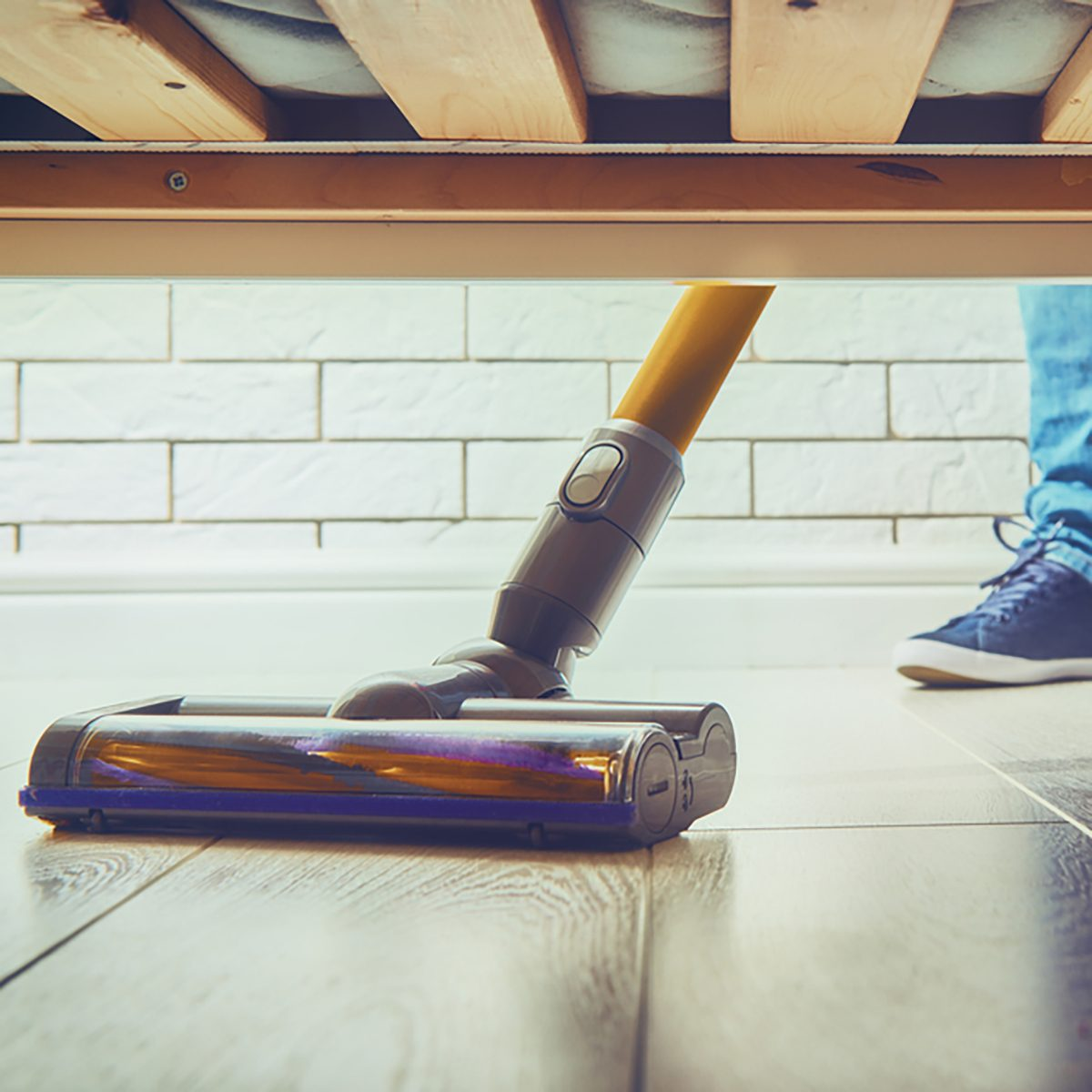 woman makes cleaning the house. people vacuums the floor
