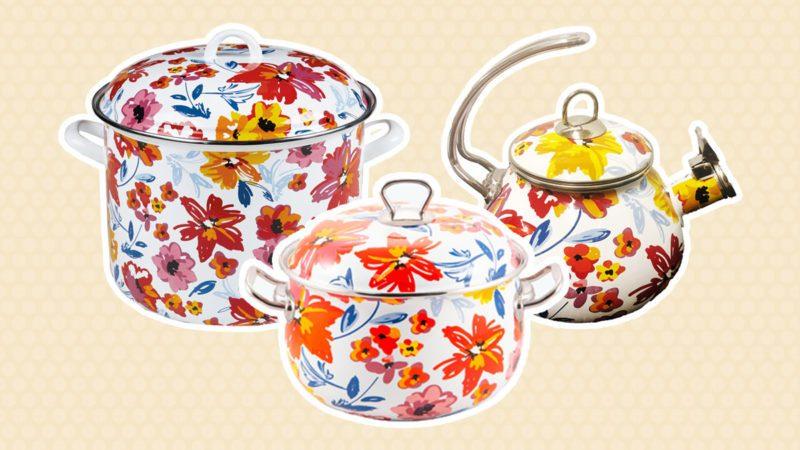 Aldi floral cookware