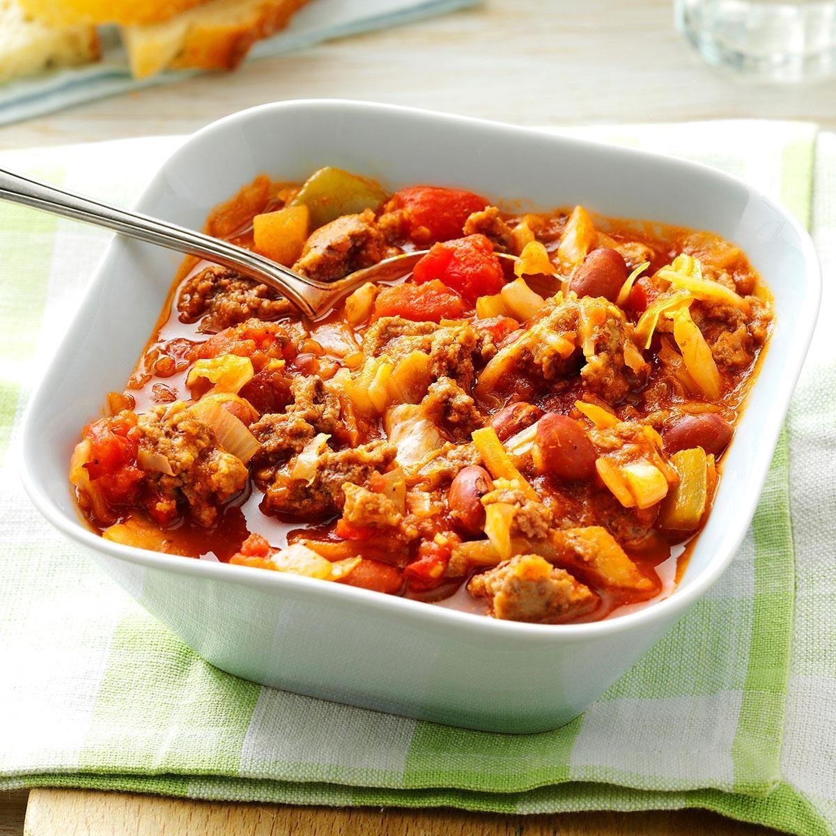 Pressure-Cooker Beefy Cabbage Bean Stew