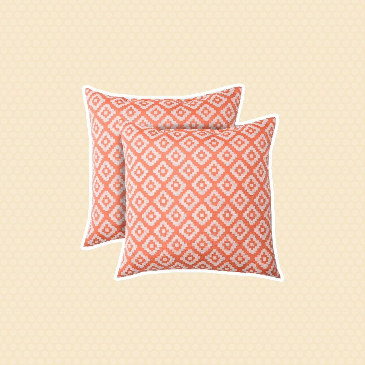 2pk Square Geo Diamond Outdoor Pillows - Threshold™