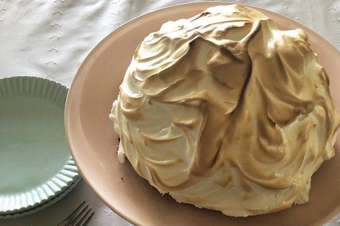 Making a Baked Alaska, beauty, whole