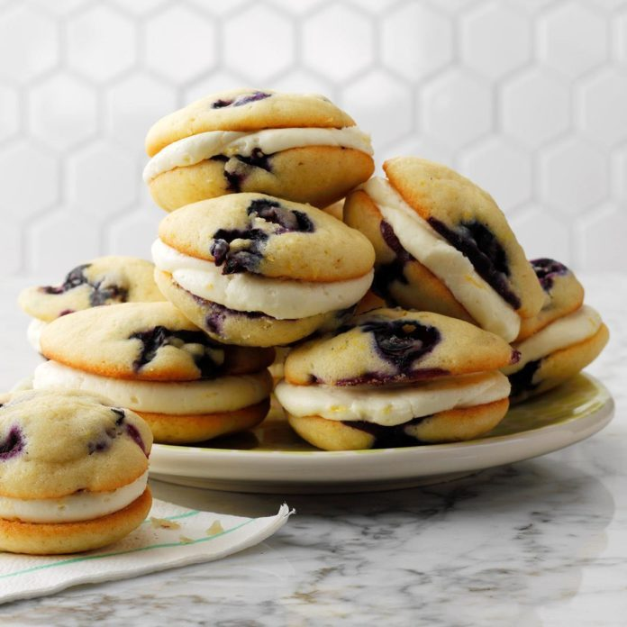 Lemon Blueberry Whoopie Pies