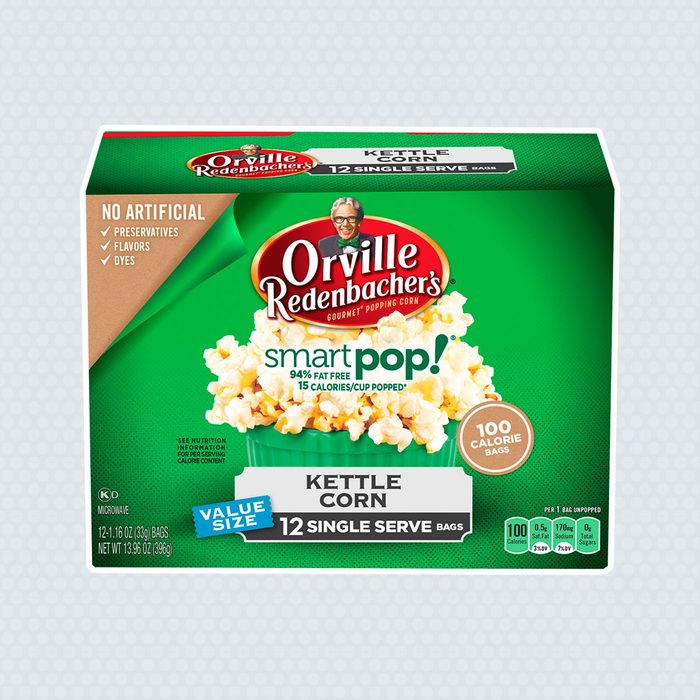 Orville Redenbacher's SmartPop! Kettle Korn Popcorn, Single Serve Bag, 12 Ct