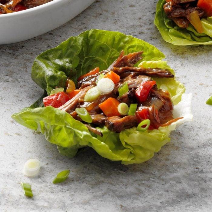 Day 11: Pressure Cooker Shredded Beef Lettuce Cups
