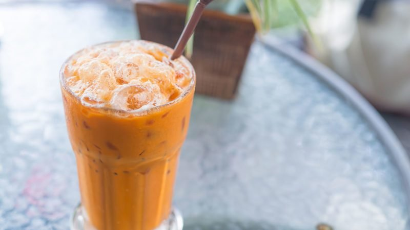 Milk ice tea, Thai drink