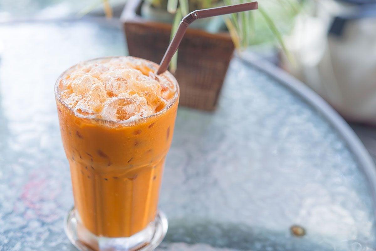 Milk ice tea, Thai drink