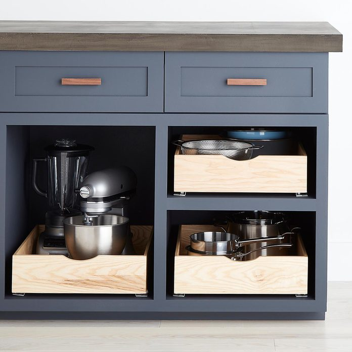 kitchen storage & organization Ash Wood Roll Out Cabinet Drawers