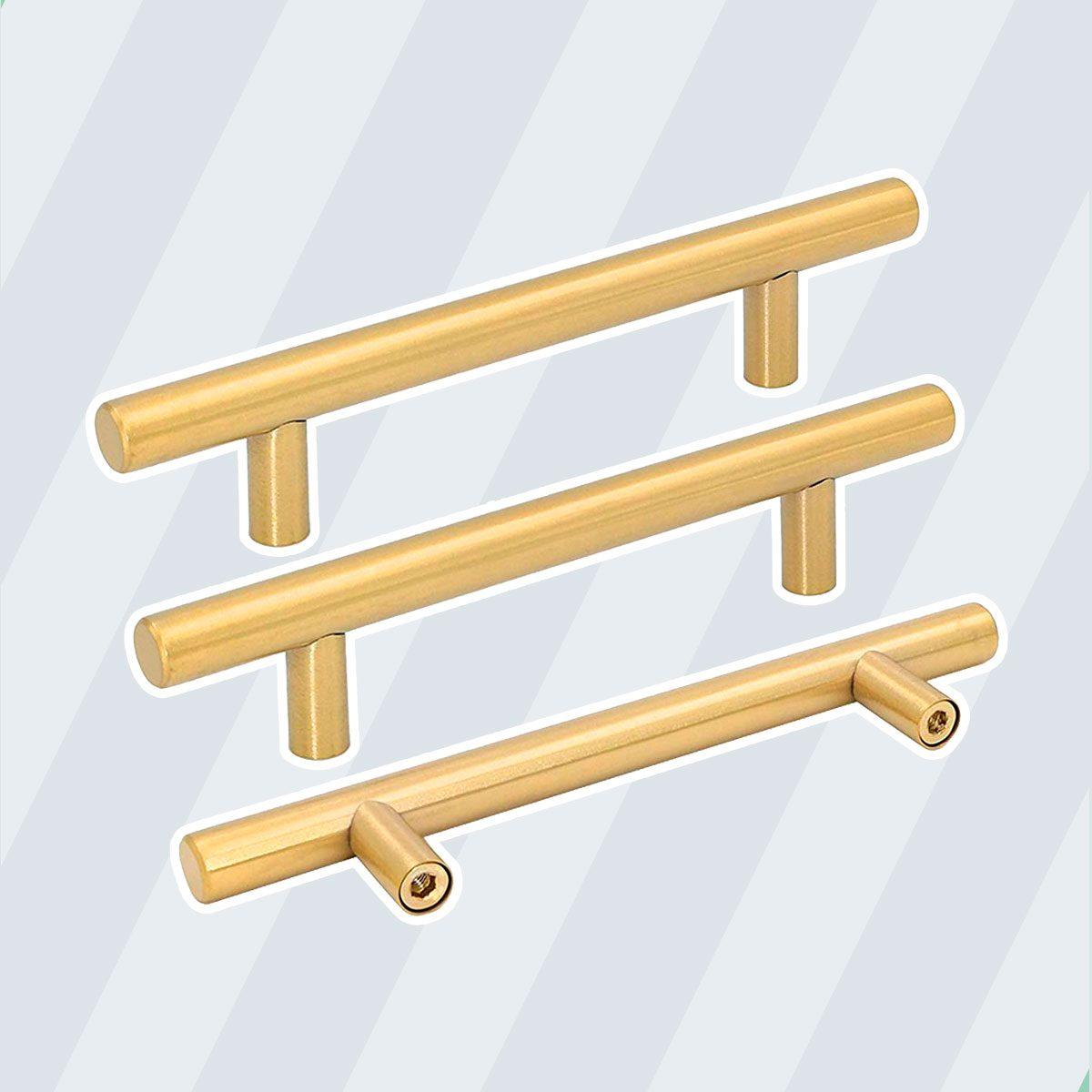 Brushed Brass Kitchen Cabinet Hardware Handle