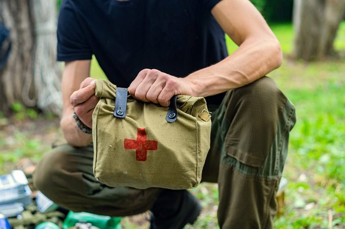 Military Medical Aid, first aid kit;
