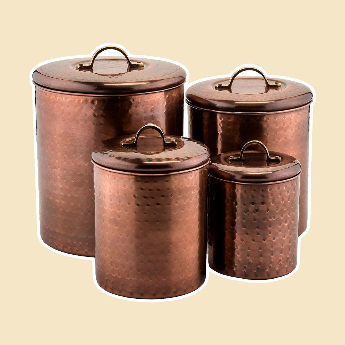 Antique Copper Canisters