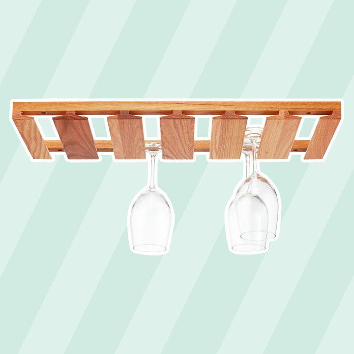 kitchen storage & organization Oak Undercabinet Wine Glass Rack