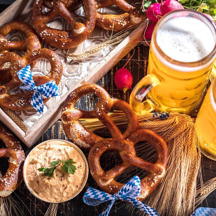 Bavarian Beer and Prezel