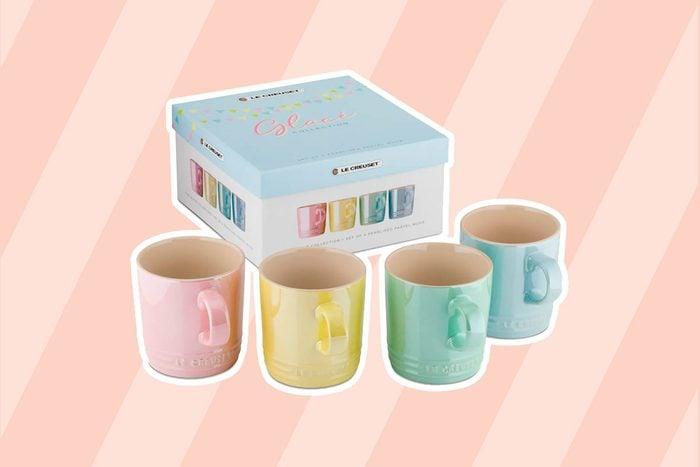 shimmering le creuset mugs