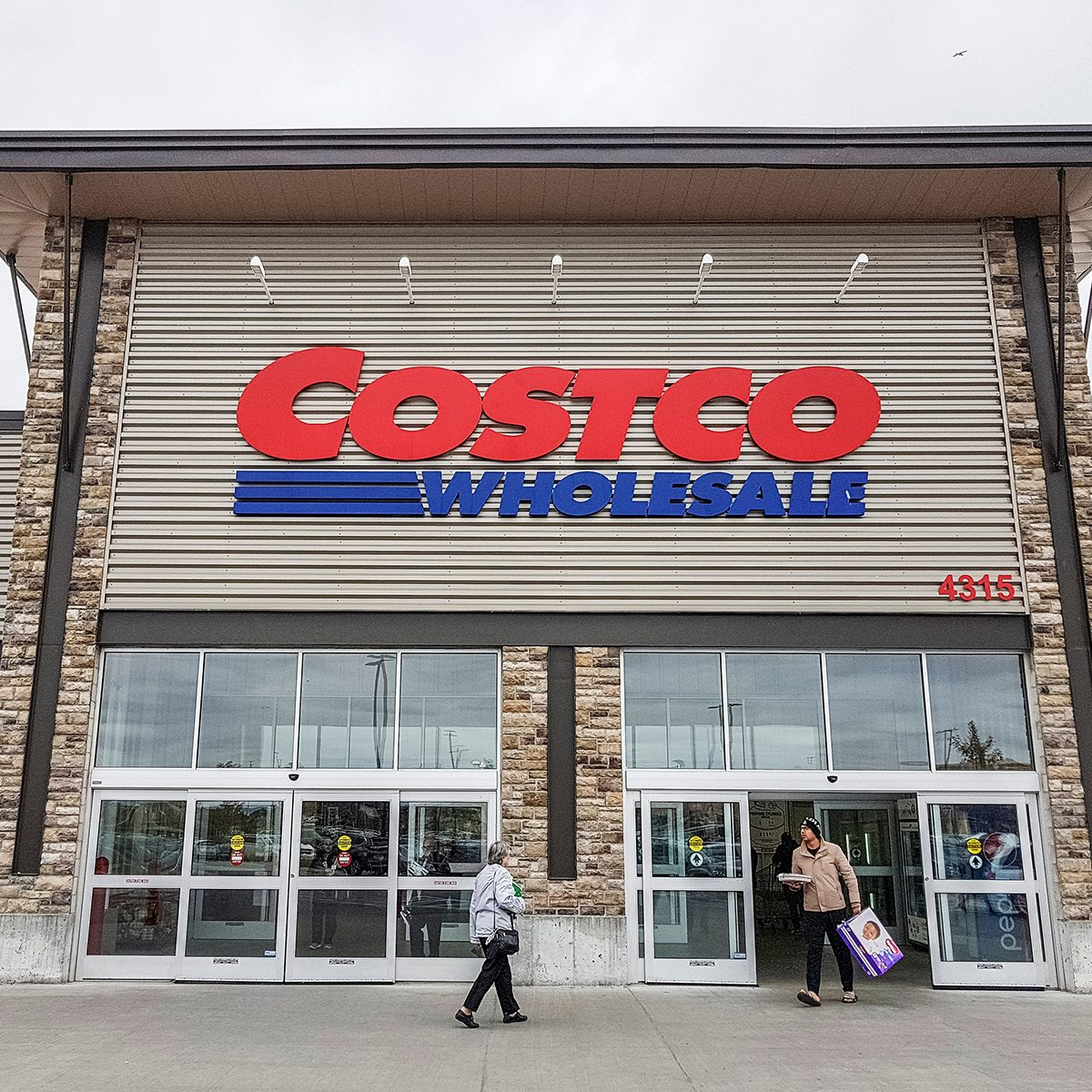 OTTAWA, CANADA - OCTOBER 7, 2018: Costco Wholesale store in Ottawa, Canada. The company operates a chain of membership warehouses, carrying merchandise at lower prices. ; Shutterstock ID 1197798139
