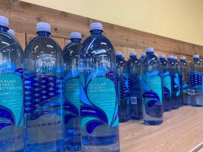 Trader Joe's grocery store sells Alkaline water