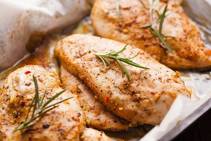 Spicy baked chicken breast with rosemary; Shutterstock ID 273950417; Job (TFH, TOH, RD, BNB, CWM, CM): Taste of Home