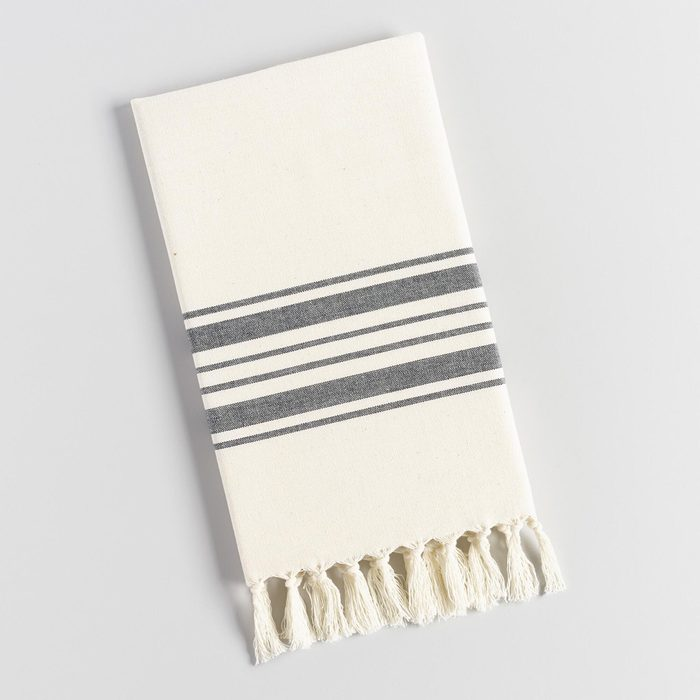 Black Villa Stripe Kitchen Towel
