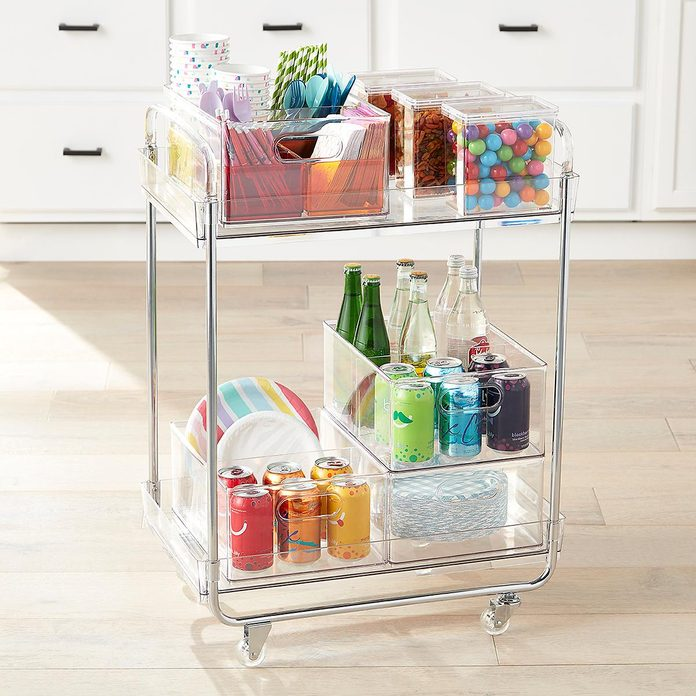 kitchen storage & organization The Home Edit Clear Rolling Cart