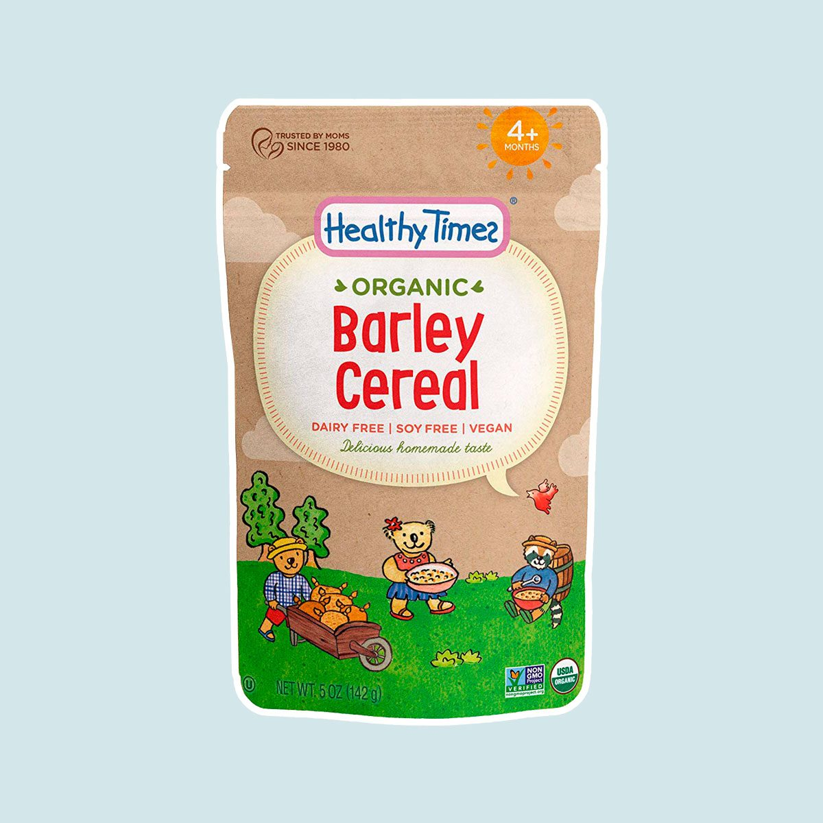 Healthy Times Organic Whole Grain Barley Baby Cereal
