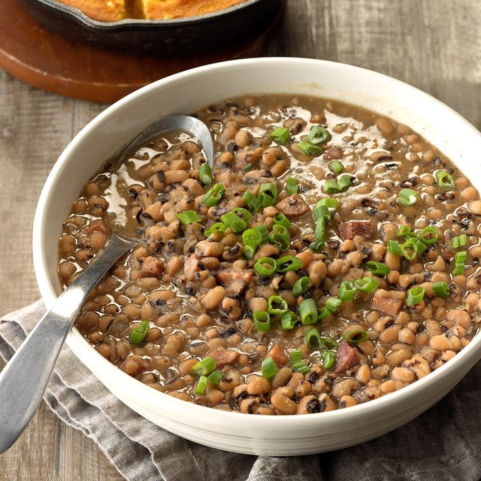 Pressure-Cooker Black-Eyed Peas with Ham